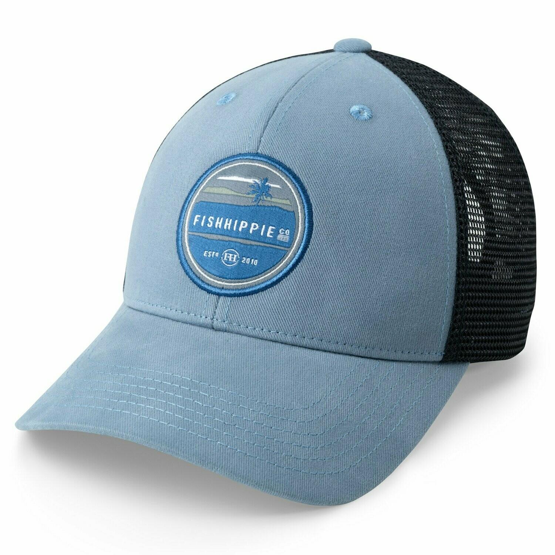 Fish Hippie Skyline Trucker Hat BLUE