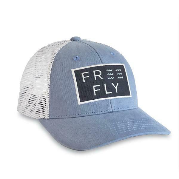 Free Fly Wave Snapback Trucker Hat BLUE FOG