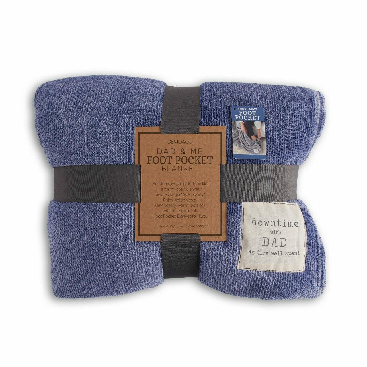 Demdaco Dad & Me Foot Pocket Blanket BLUE