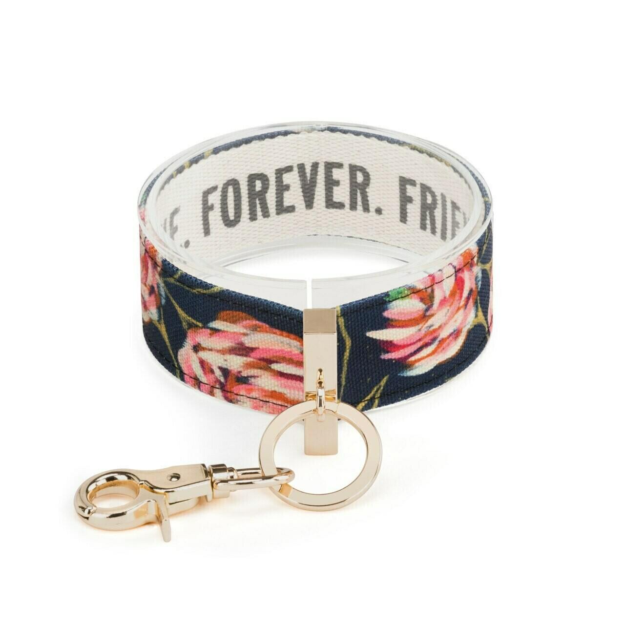 Demdaco Wrist Strap Key Ring TRUE FRIEND FOREVER