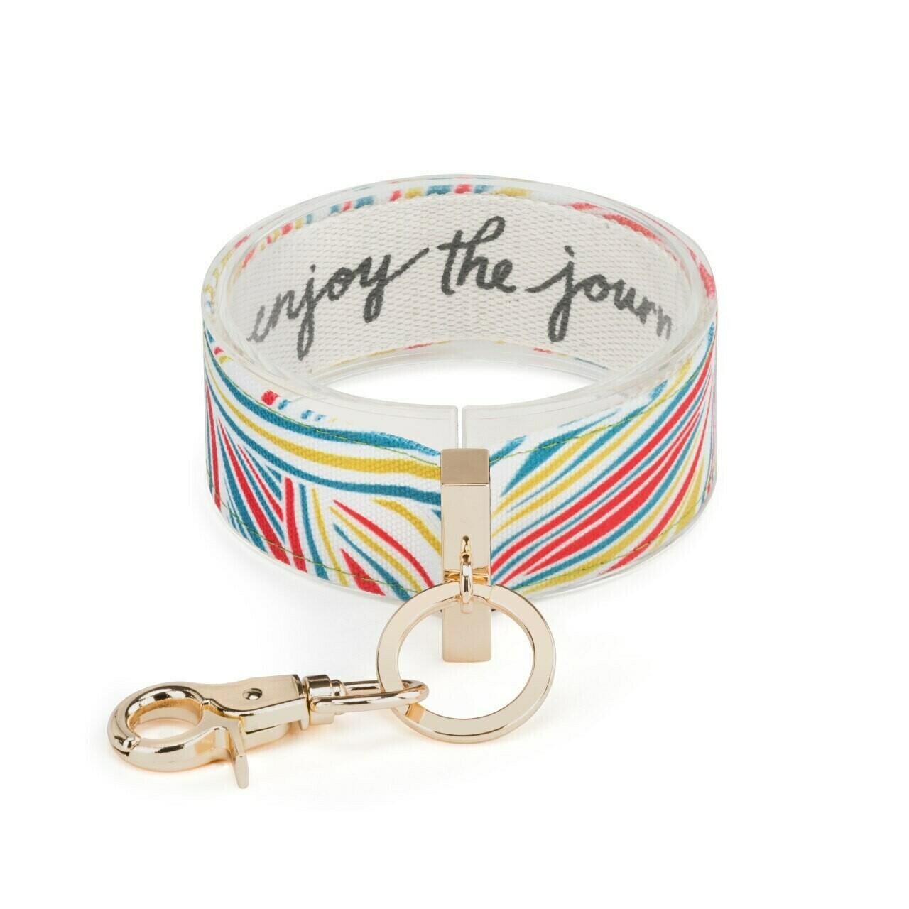 Demdaco Wrist Strap Key Ring ENJOY THE JOURNEY