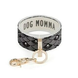 Demdaco Wrist Strap Key Ring DOG MOMMA