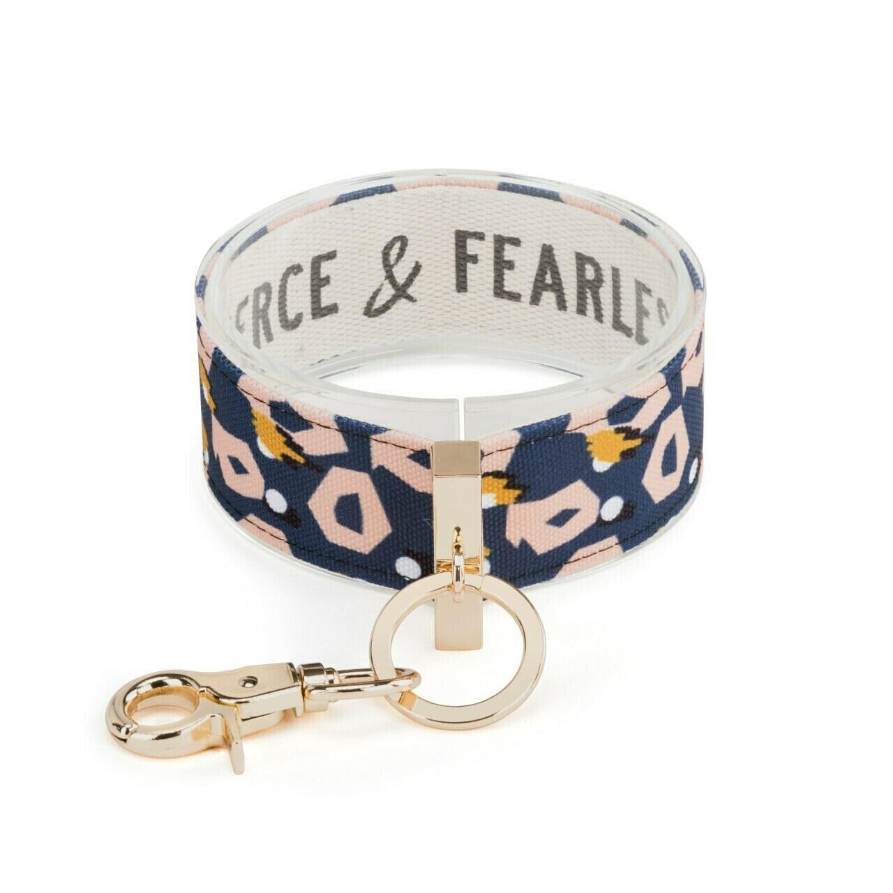 Demdaco Wrist Strap Key Ring FIERCE & FEARLESS