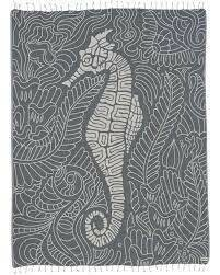 Sand Cloud Seahorse Swirl Large Towel NAVY