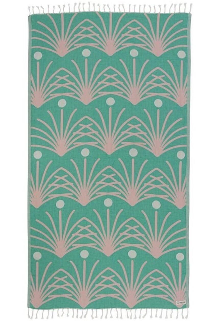 Sand Cloud Retro Palm Towel GREEN