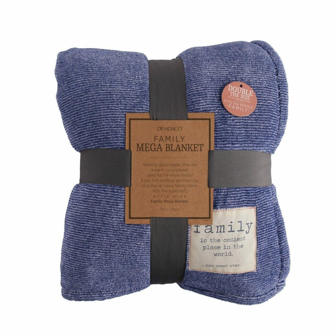 Demdaco Family Mega Blanket BLUE