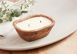 Mud Pie Mango Wood Candle Bowls Petite
