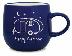 Cape Shore Batik Mug HAPPY CAMPER
