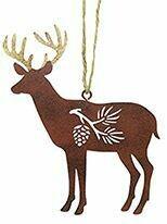 Cape Shore Christmas Ornament: Metal DEER