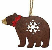 Cape Shore Christmas Ornament: Metal BEAR