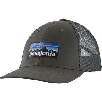 Patagonia M P-6 Logo LoPro Trucker Hat FORGE GREY