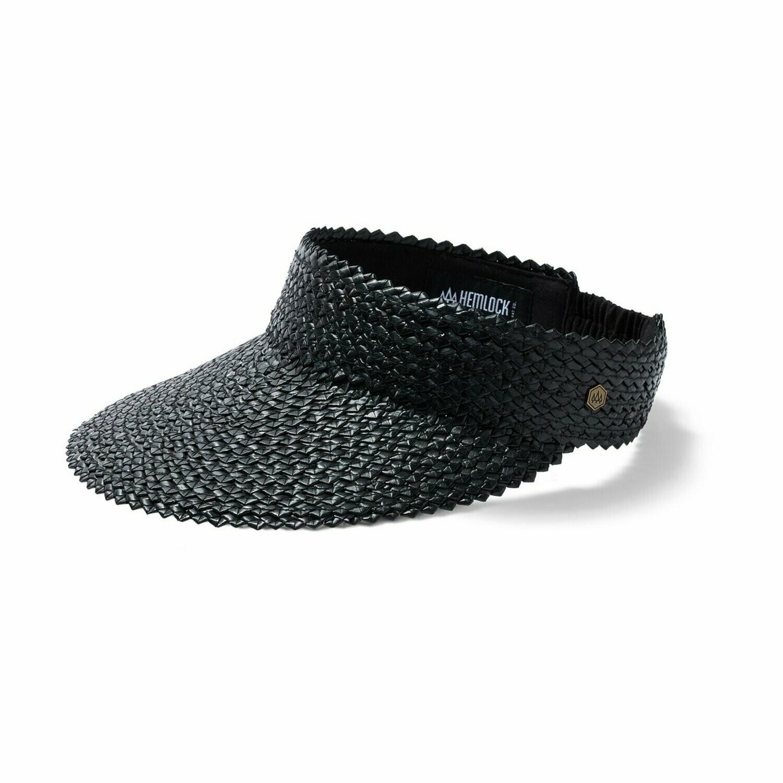 Hemlock Hat Co Capri Visor ONYX