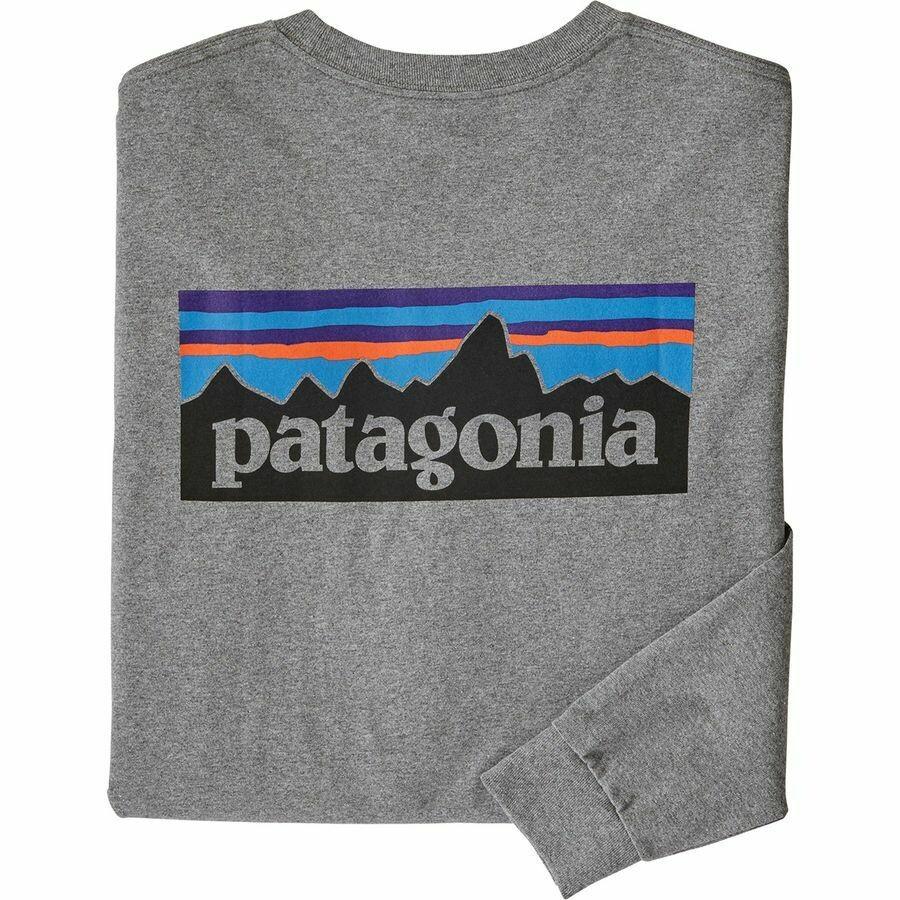 Patagonia M LS P-6 Logo Responsibilitee GRAVEL HTR