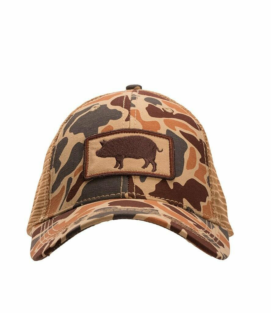 Southern Hooker Pig Trucker Hat CAMO