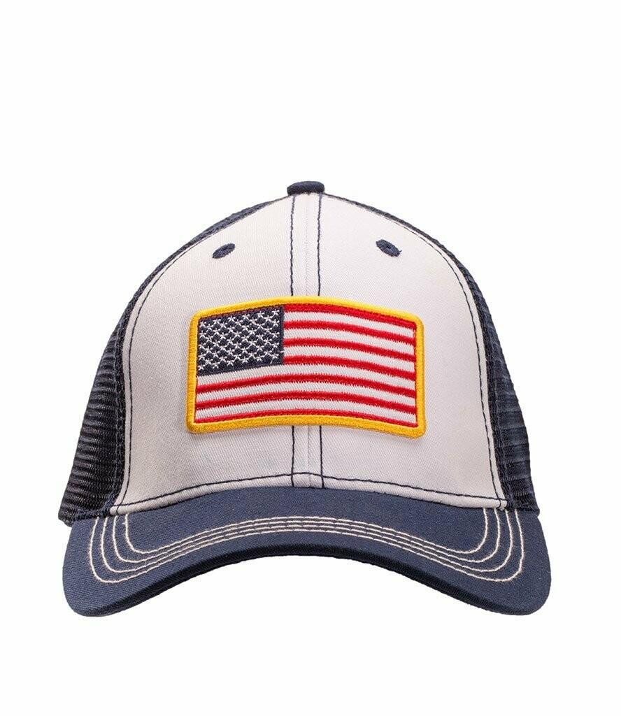Southern Hooker USA Trucker Hat WHITE