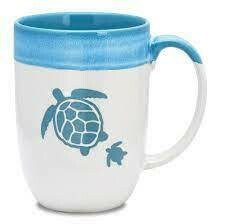 Cape Shore Dipped Coffee Mug SEA TURTLES