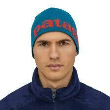 Patagonia Logo Beanie Hat CRATER BLUE