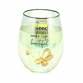 Pavilion Stemless Wine Glass 18oz FRIENDS