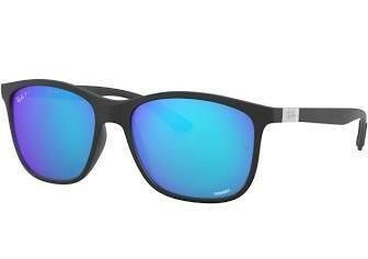Ray Ban 4330 Polarized Chromance BLACK/BLUE MIRROR