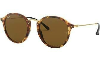 Ray Ban 2447 Round Fleck SPOTTED BROWN HAVANA/BROWN
