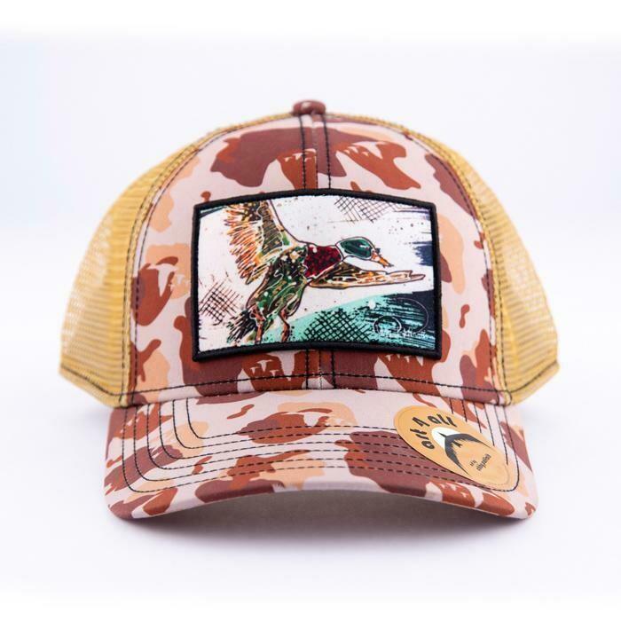 Art 4 All Green Head Duck Trucker Hat CAMO