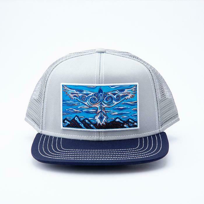 Art 4 All A Blue Bird Wears the Sky Trucker Hat LT GRAY