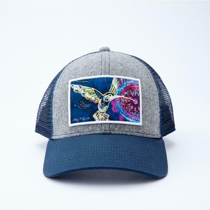Art 4 All Pollinator Trucker Hat HEATHER GRAY