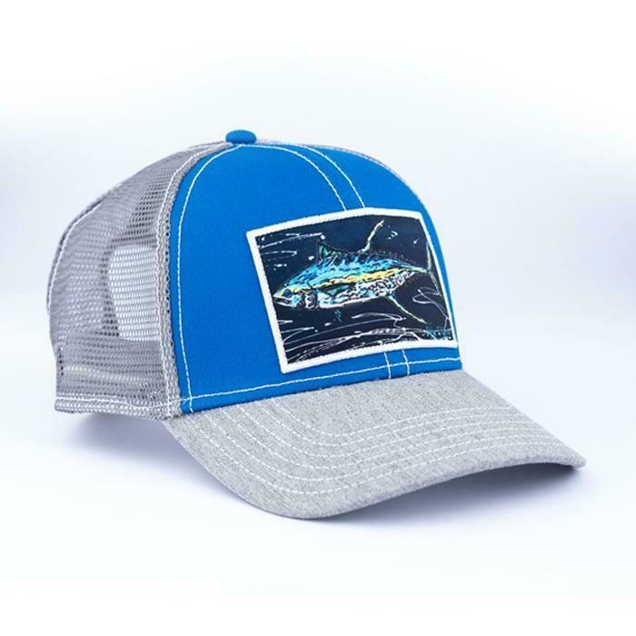 Art 4 All Yellow Fin Trucker Hat ROYAL BLUE
