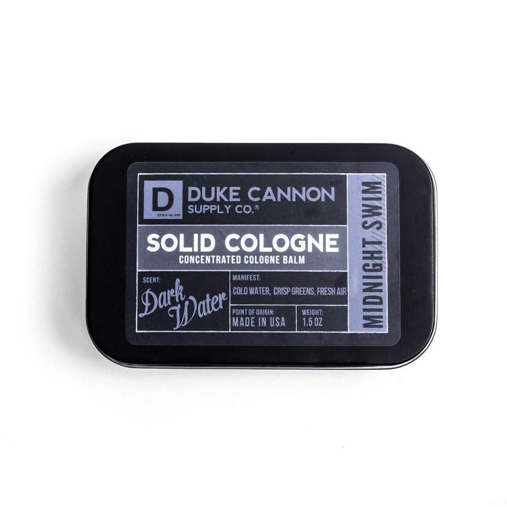 Duke Cannon Solid Cologne DARK WATER