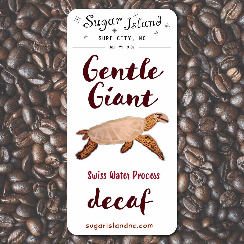 Sugar Island Decaf Coffee GENTLE GIANT