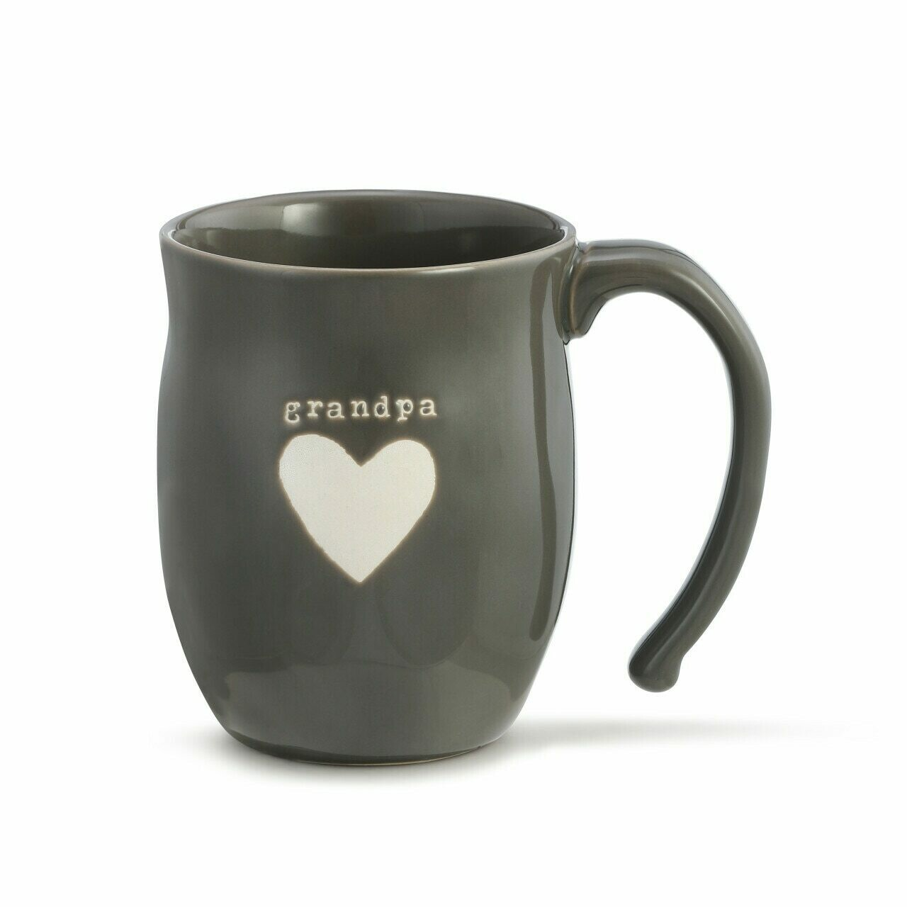 Demdaco Grandpa Heart Mug GRAY