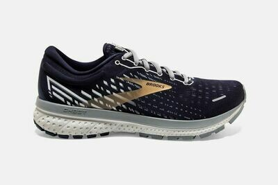 Brooks M Ghost 13 PEACOAT / GRAY / GOLD