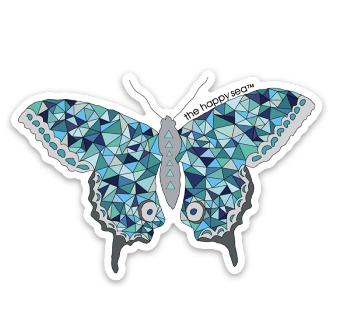 """The Happy Sea 3"""" Butterfly Sticker"""