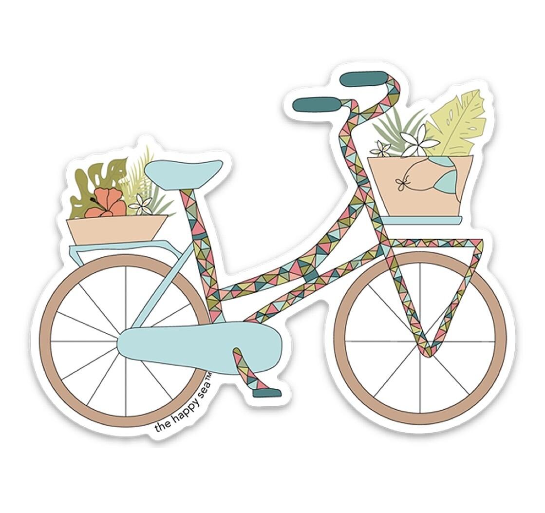"The Happy Sea 4"" Tropicalia Bicycle Sticker"