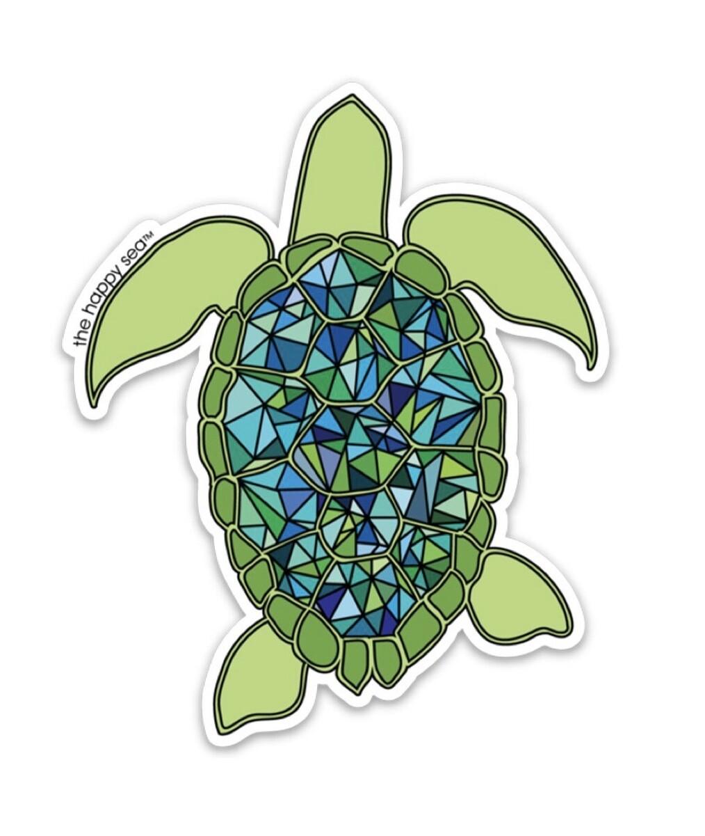 """The Happy Sea 4"""" Sea Turtle Sticker"""