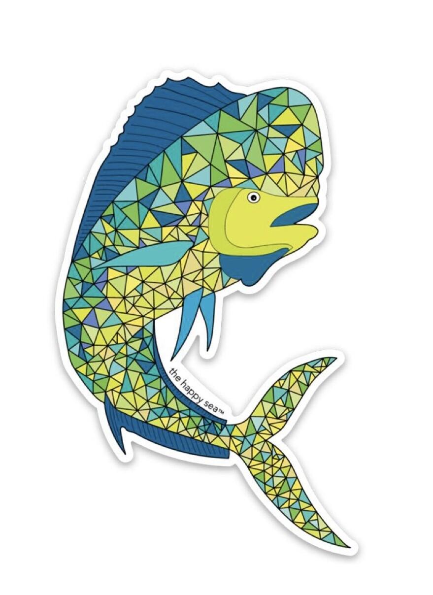 "The Happy Sea 4"" Mahi Sticker"
