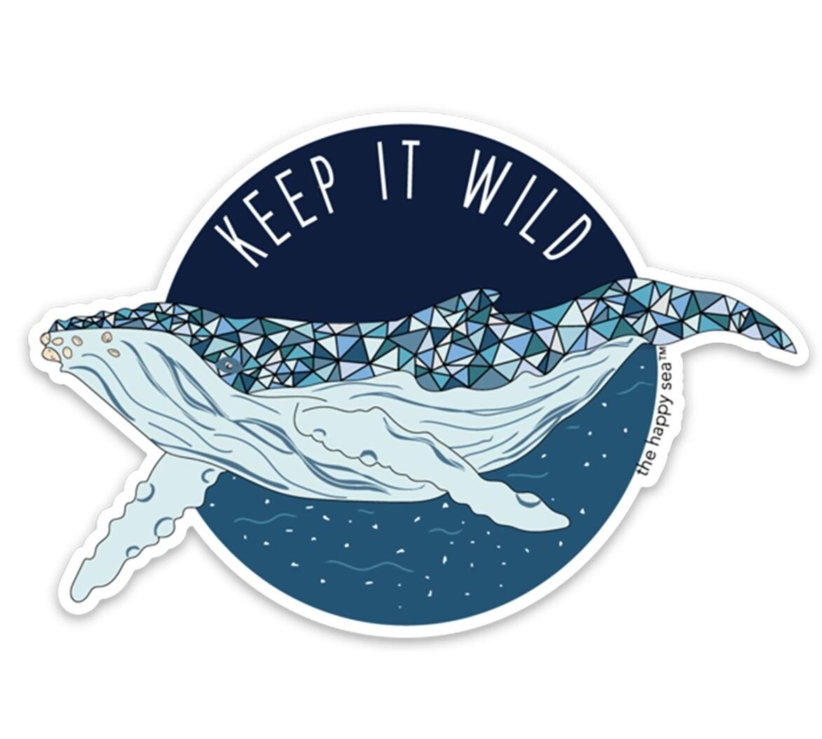 "The Happy Sea 4"" Keep It Wild Sticker"