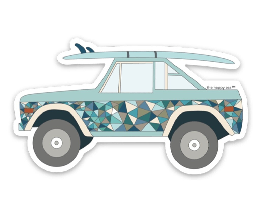 """The Happy Sea 4"""" Bronco Sticker"""