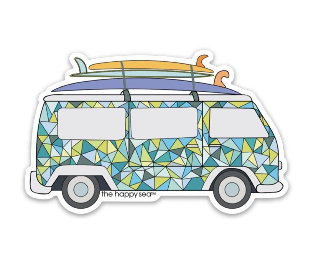 "The Happy Sea 3"" VW Surf Van Sticker"