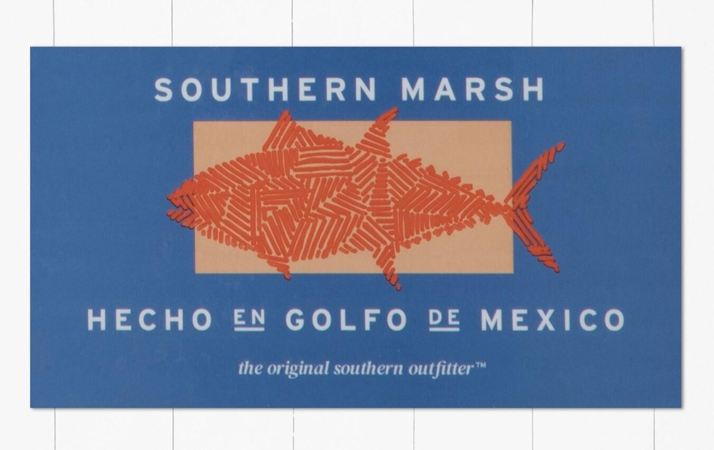 Southern Marsh In The Gulf Sticker SLATE