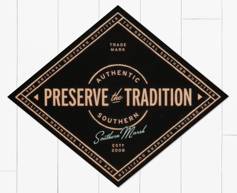 Southern Marsh Southern Tradition Retro Sticker BLACK
