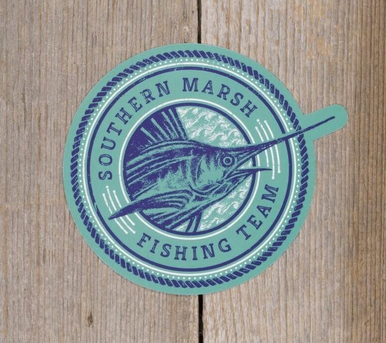 Southern Marsh Fishing Team Sticker TEAL/NAVY