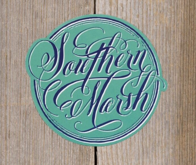 Southern Marsh Signature Coin Sticker TEAL/NAVY