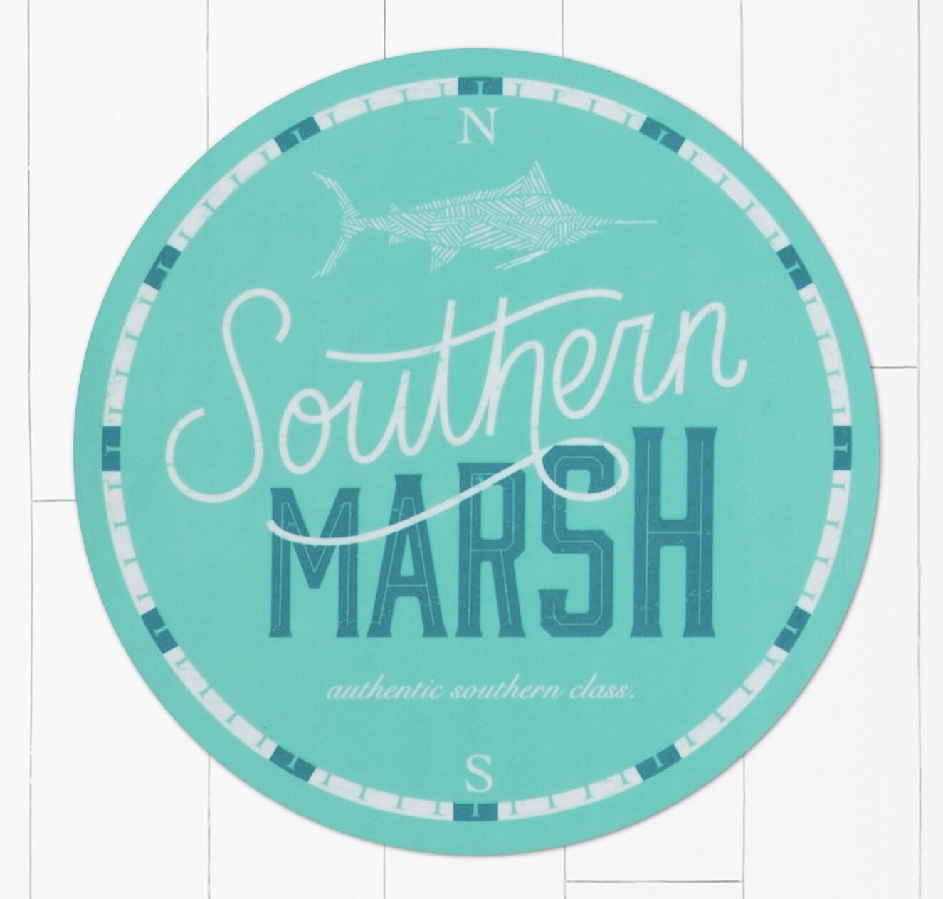 Southern Marsh Marlin Time Sticker TEAL