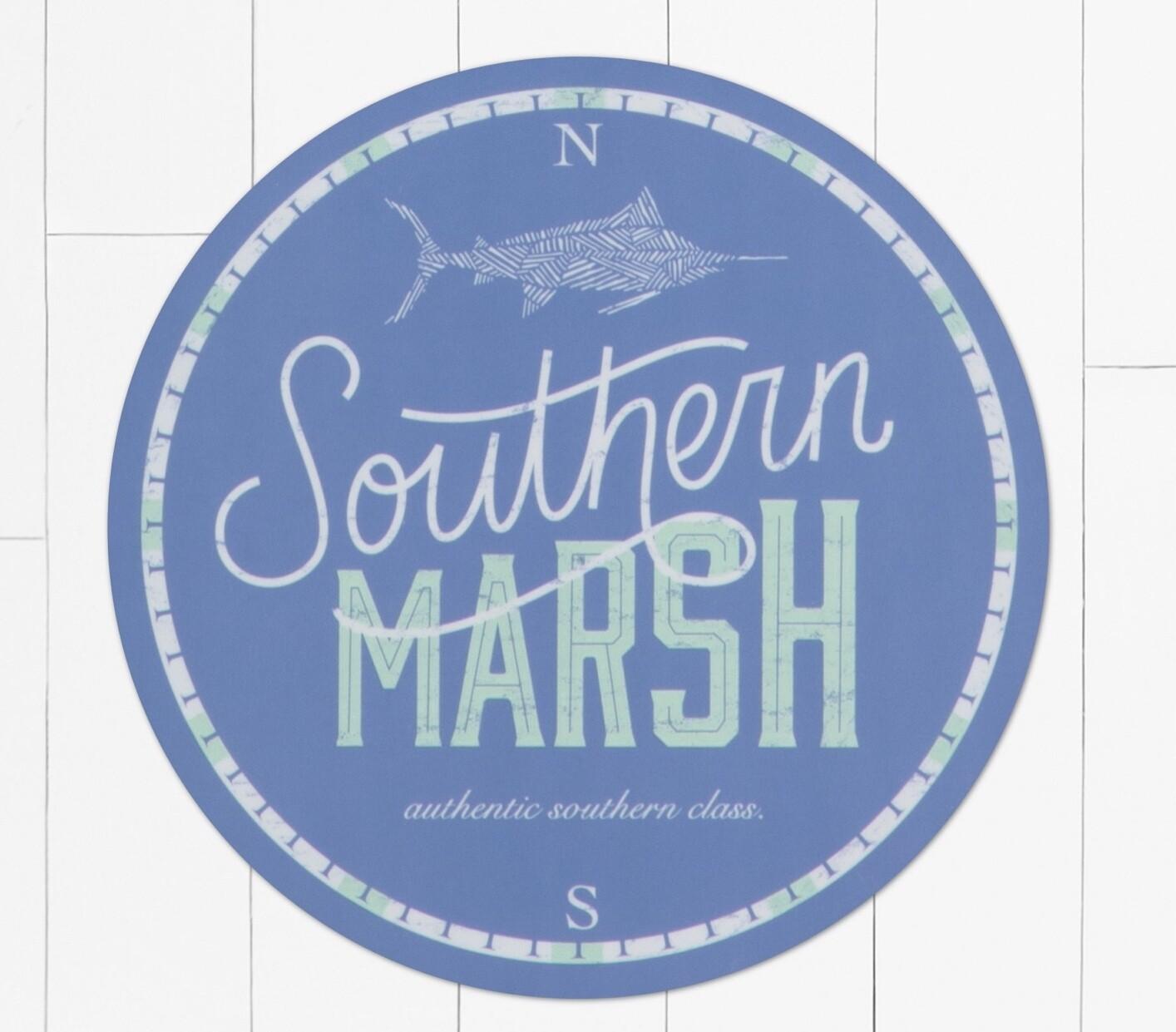 Southern Marsh Marlin Time Sticker SLATE