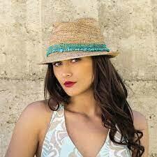 Wallaroo Hats Tahiti Fedora TURQUOISE