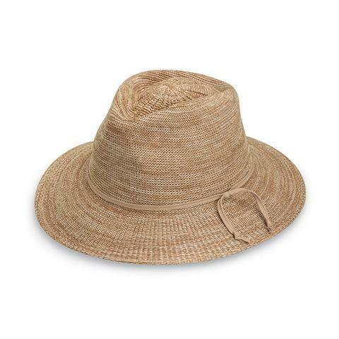 Wallaroo Hats Victoria Fedora MIXED CAMEL