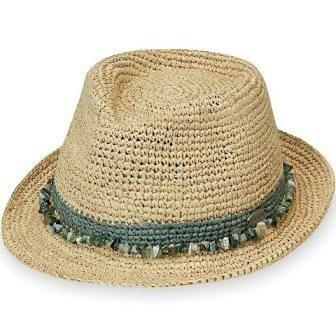 Wallaroo Hats Tahiti Fedora SAGE