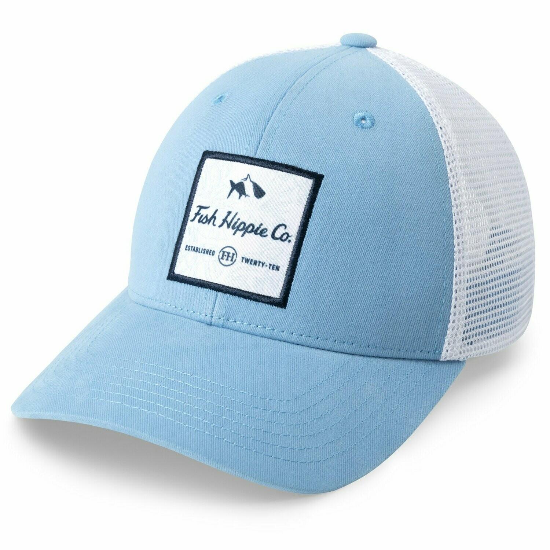 Fish Hippie FHC Palms Trucker Hat BLUE