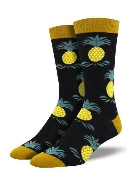 Socksmith M Bamboo Impeccable Pineapple BLACK